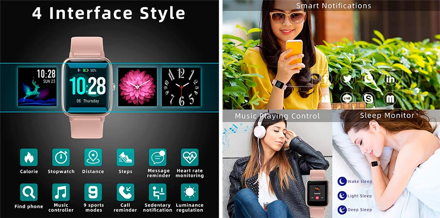 LIFEBEE Smartwatch Impermeable IP68
